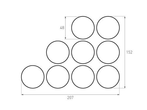 Штамп для вырубки круга krug d48 9. Привью 500x375 пикселов.