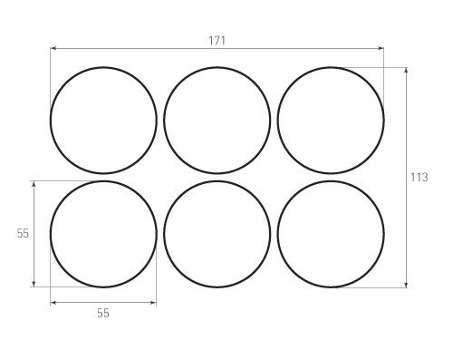 Штамп для вырубки круга krug d55 6. Привью 500x375 пикселов.