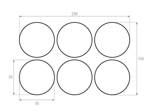 Штамп для вырубки круга krug d70 6. Привью 500x375 пикселов.