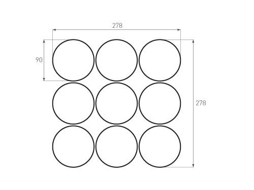 Штамп для вырубки круга krug d90 9. Привью 500x375 пикселов.