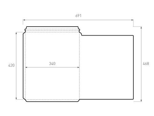 Штамп для вырубки горизонтального курьерского конверта kv 340x420. Привью 500x375 пикселов.