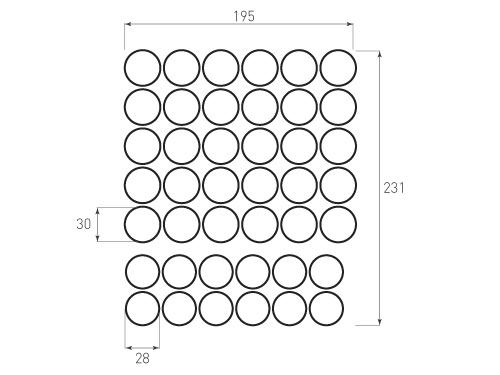Штамп для вырубки круга д30 мм д28 мм. 30 и 12 штук. Привью 500x375 пикселов.