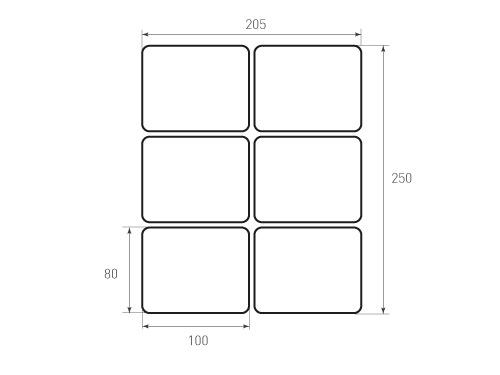 Штамп для вырубки карточки скругление 100x80 р7. Привью 500x375 пикселов