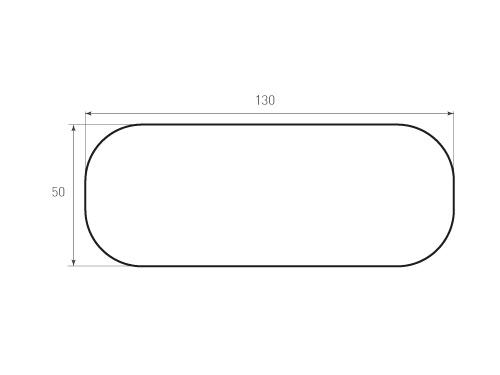 Штамп для вырубки карточки скругление 130x50 р20. Привью 500x375 пикселов