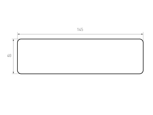 Штамп для вырубки карточки скругление 145x40 р4. Привью 500x375 пикселов