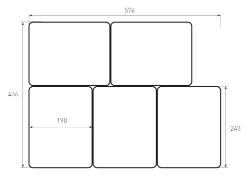 Штамп для вырубки карточки скругление 190x243 р12. Привью 500x375 пикселов