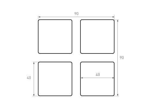 Штамп для вырубки карточки скругление 40x40 р2. Привью 500x375 пикселов