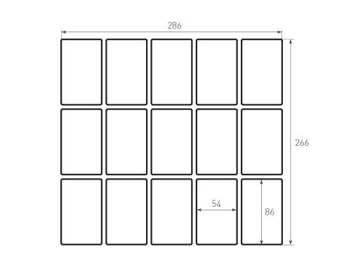 Штамп для вырубки карточки скругление 54x86 15 штук, р3. Привью 500x375 пикселов