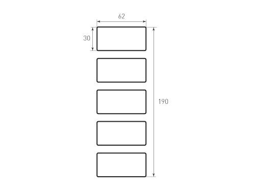Штамп для вырубки карточки скругление 62x30 Р1,7. Привью 500x375 пикселов