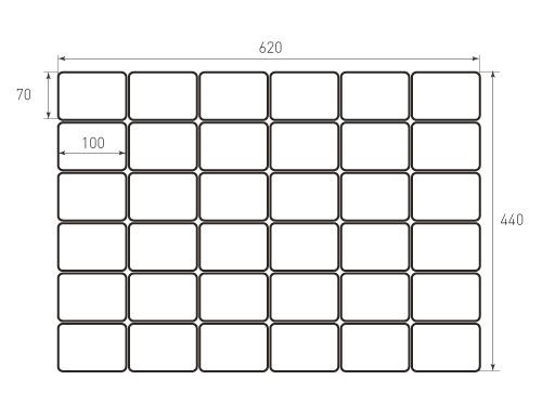 Штамп для вырубки карточки скругление 70x100 36 штук r7. Привью 500x375 пикселов