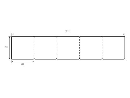 Штамп для вырубки карточки скругление 70x70 р3, 4 биговки. Привью 500x375 пикселов
