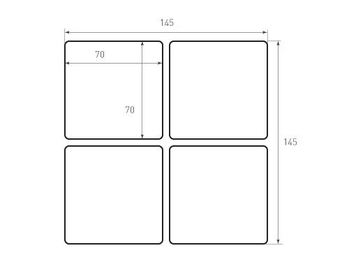 Штамп для вырубки карточки скругление 70x70 р3. Привью 500x375 пикселов