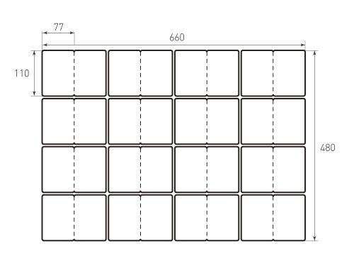 Штамп для вырубки карточки скругление 77x110 р4 биговка 500x375 пикселов