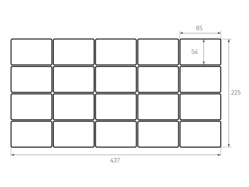 Штамп для вырубки карточки скругление 85x54 20 штук р3. Привью 500x375 пикселов