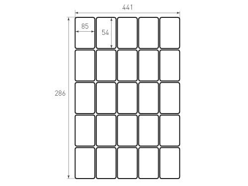 Штамп для вырубки карточки скругление 85x54 25 штук р5. Привью 500x375 пикселов
