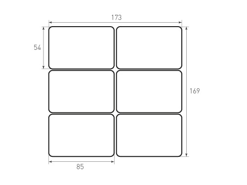 Штамп для вырубки карточки скругление 85x54 6 штук р5. Привью 500x375 пикселов