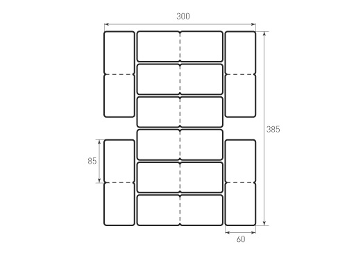 Штамп для вырубки карточки скругление 85x60 р5 биговка. Привью 500x375 пикселов