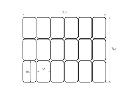 Штамп для вырубки карточки скругление 86x54 18 штук р8. Привью 500x375 пикселов