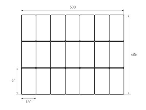 Штамп для вырубки карточки скругление 90x160 р5. Привью 500x375 пикселов