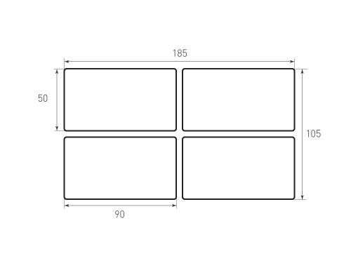 Штамп для вырубки карточки скругление 90x50 4 штук 2. Привью 500x375 пикселов