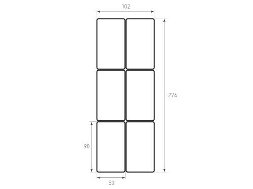 Штамп для вырубки карточки скругление 90x50 6 штук р3. Привью 500x375 пикселов