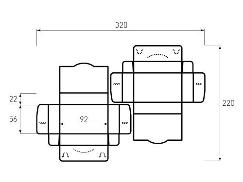 Штамп для коробки 1К для визиток 92x56x22. Привью 500x375 пикселов