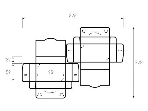 Штамп для коробки 1К Для визиток 95x59x22. Привью 500x375 пикселов