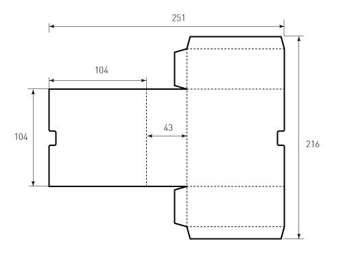 Штамп для коробки 1К 104x104x43. Привью 500x375 пикселов