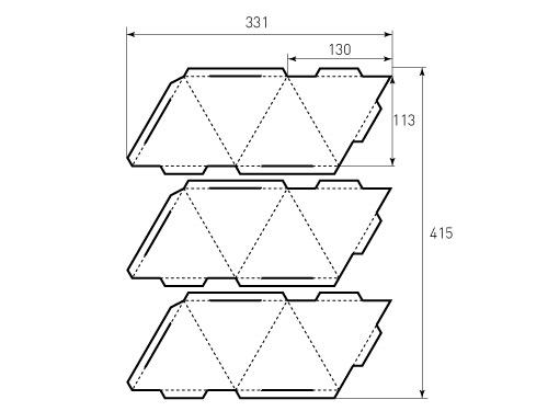 Штамп для коробки 1К 130 Пирамидка. Привью 500x375 пикселов