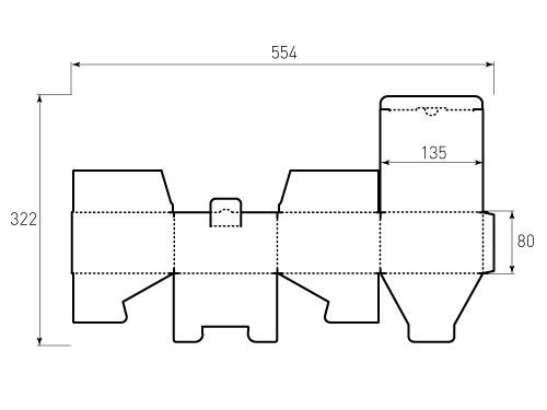 Штамп для коробки 1К 135x135x80. Привью 500x375 пикселов