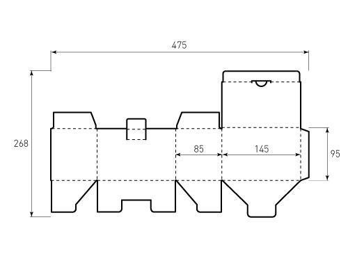 Штамп для коробки 1К 145x95x85. Привью 500x375 пикселов