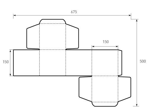 Штамп для коробки 1К 150x150x150. Привью 500x375 пикселов