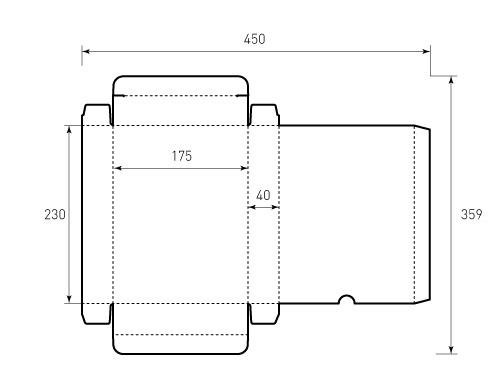 Штамп для коробки 1К 175x230x40. Привью 500x375 пикселов
