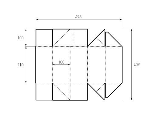 Штамп для коробки Box 1k 210x100x100. Привью 500x375 пикселов