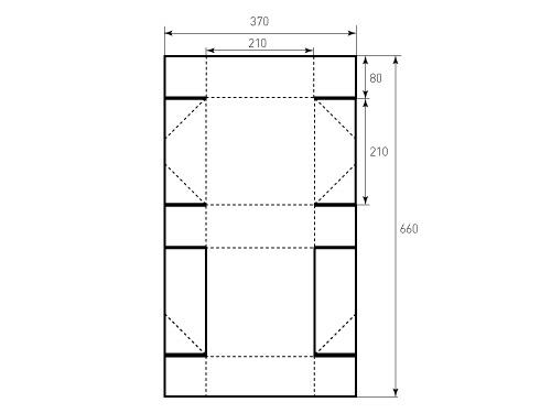 Штамп для коробки 1К 210x210x80. Привью 500x375 пикселов