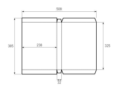 Штамп для коробки 1К 238x325x32. Привью 500x375 пикселов