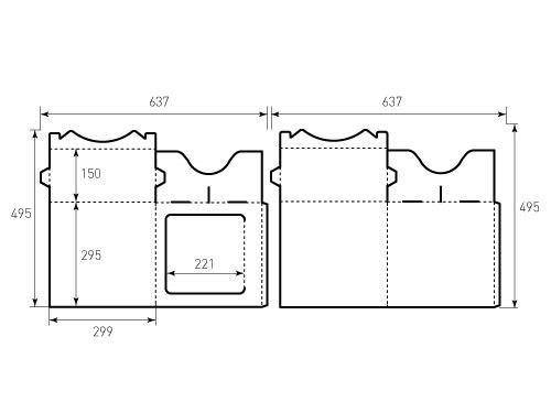 Штамп для коробки 1к 299x295x150 на голову. Привью 500x375 пикселов