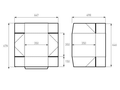 Штамп для коробки 1к 350x350x150. Привью 500x375 пикселов