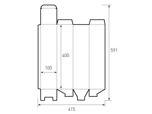 Штамп для коробки 1к 400x100x100. Привью 500x375 пикселов