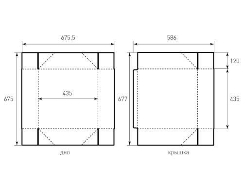 Штамп для коробки 1к 435x435x120. Привью 500x375 пикселов