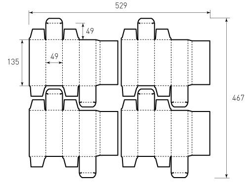 Штамп для коробки 1К 49x49x135 коллаген. Привью 500x375 пикселов