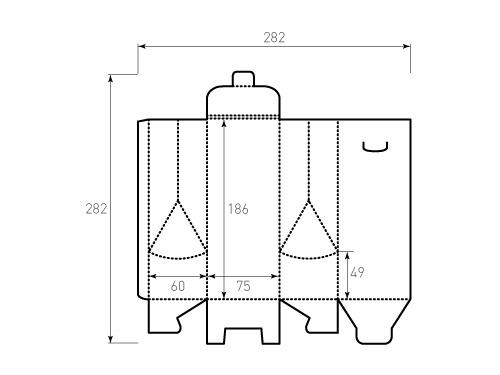 Штамп для коробки 1к 75x60x186 индола. Привью 500x375 пикселов
