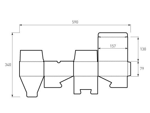 Штамп для коробки Box 1К 79x130x157. Привью 500x375 пикселов