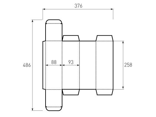 Штамп для коробки Box 1k 88x93x258. Привью 500x375 пикселов