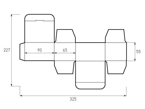 Штамп для коробки Box 1k 90x55x65. Привью 500x375 пикселов
