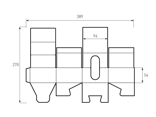 Штамп для коробки 1к 94x94x54 для Кубари. Привью 500x375 пикселов