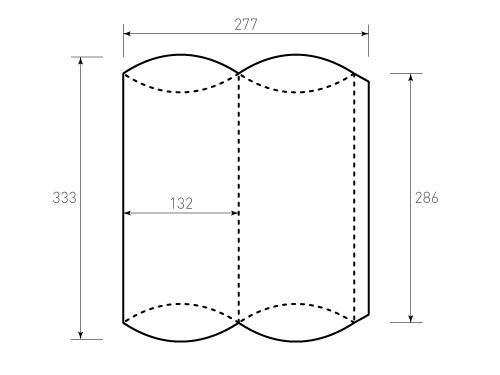 Штамп для коробки 1К Пирожок 132х286 1 штука. Привью 500x375 пикселов