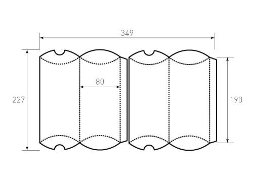 Штамп для коробки Box 1k Пиожок 80x190 2 штуки. Привью 500x375 пикселов