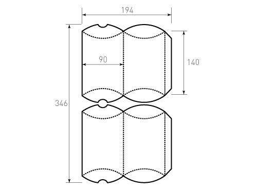 Штамп для коробки Box 1К 90x140. Привью 500x375 пикселов