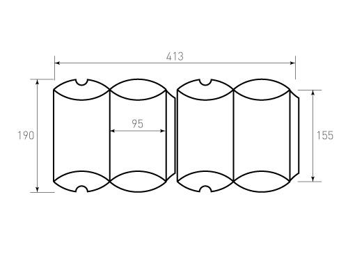Штамп для коробки 1к Пирожок 95x155. Привью 500x375 пикселов